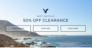 American Eagle 50% off Clearance Sale