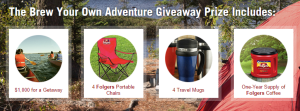 Folgers® Brew Your Own Adventure Giveaway