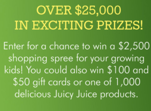 Juicy Juice Find Your Perfect Fit Instant Win Game