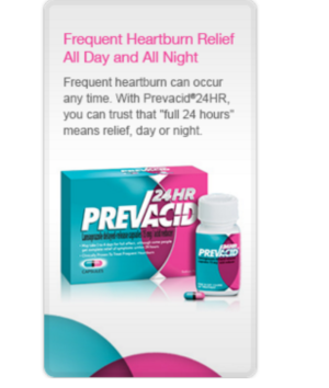 PREVACID®24HR PERKS Day at the Mall or Night on the Town Sweepstakes