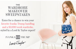 Ivanka Trump + Lord+Taylor $1,000 work wardrobe sweepstakes
